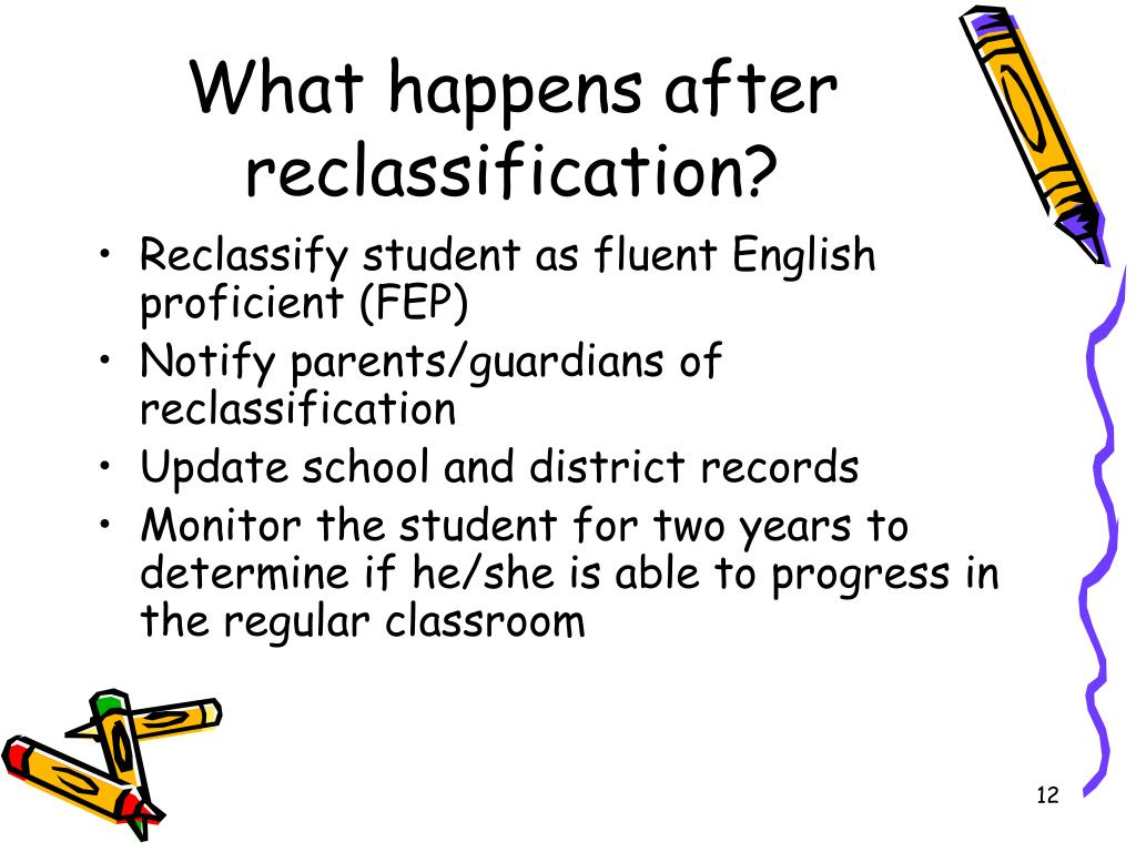 What happens after reclassification?