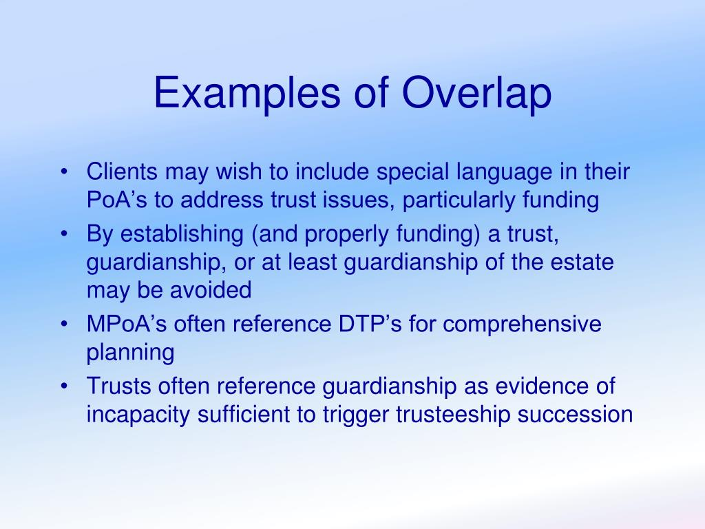 Examples of Overlap