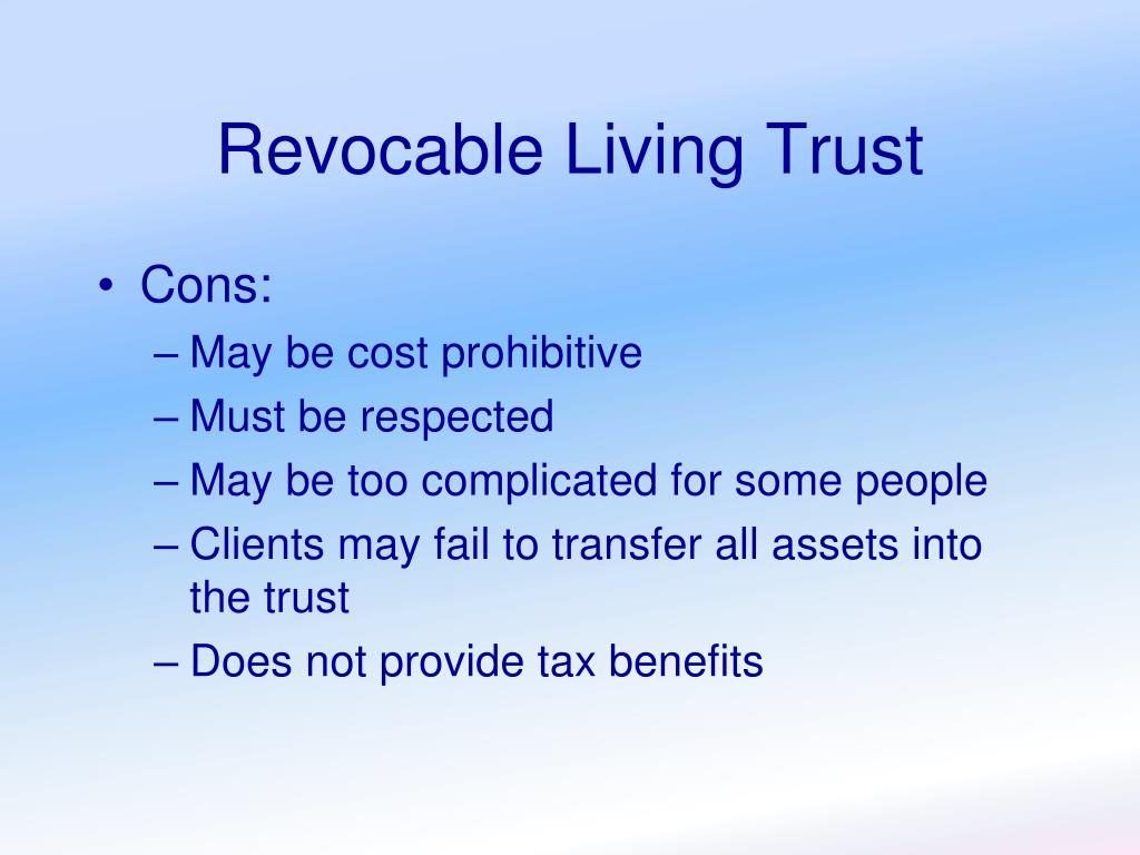 Revocable Living Trust