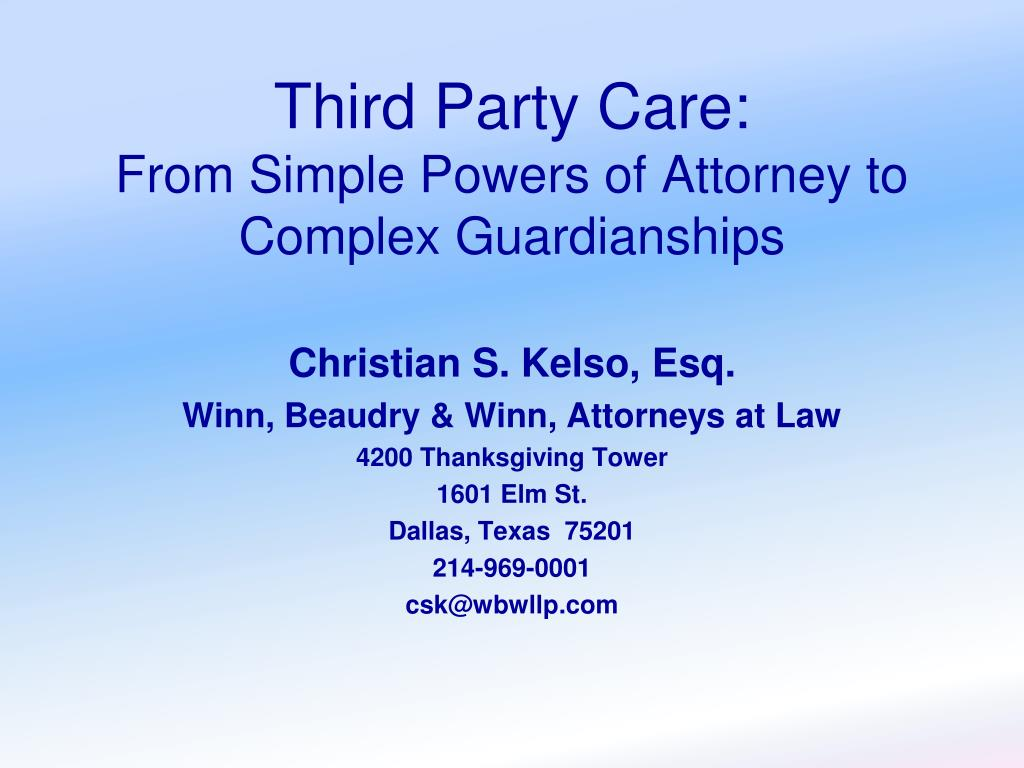 Third Party Care: