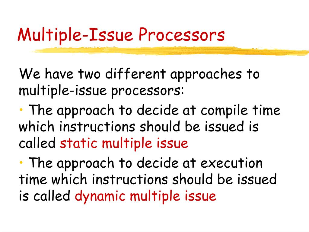 Multiple-Issue Processors