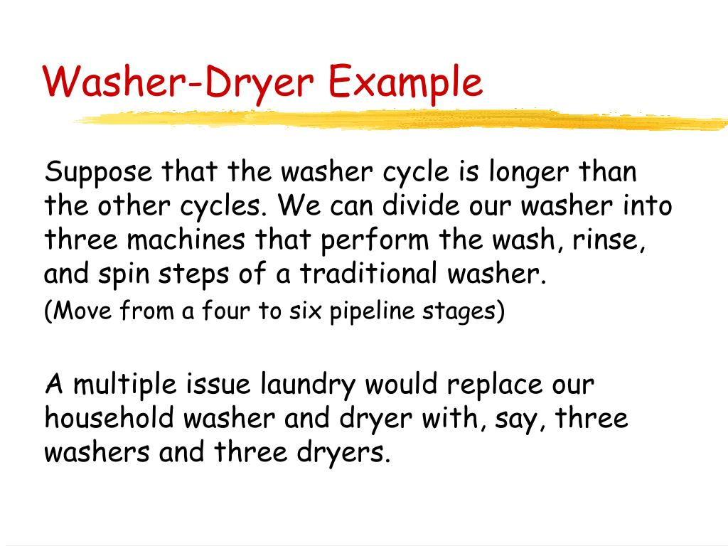 Washer-Dryer Example