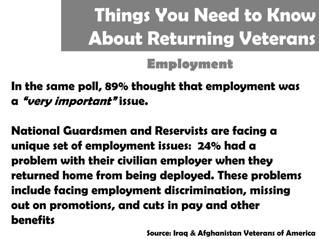 Things You Need to Know About Returning Veterans