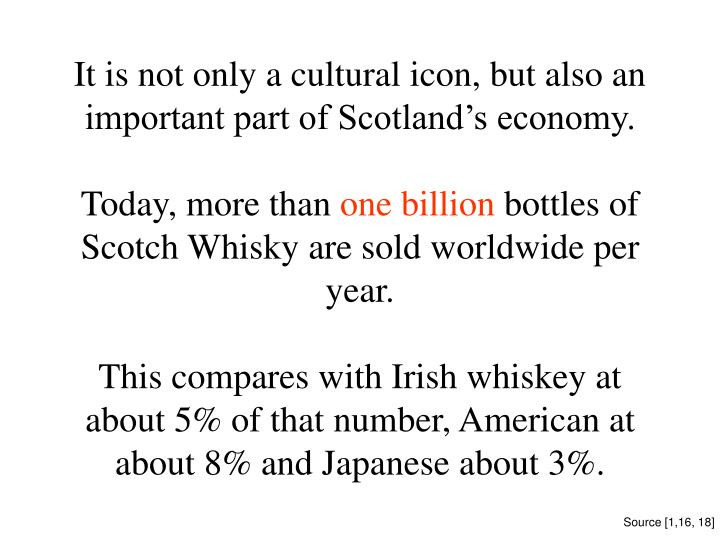 It is not only a cultural icon, but also an important part of Scotland's economy.
