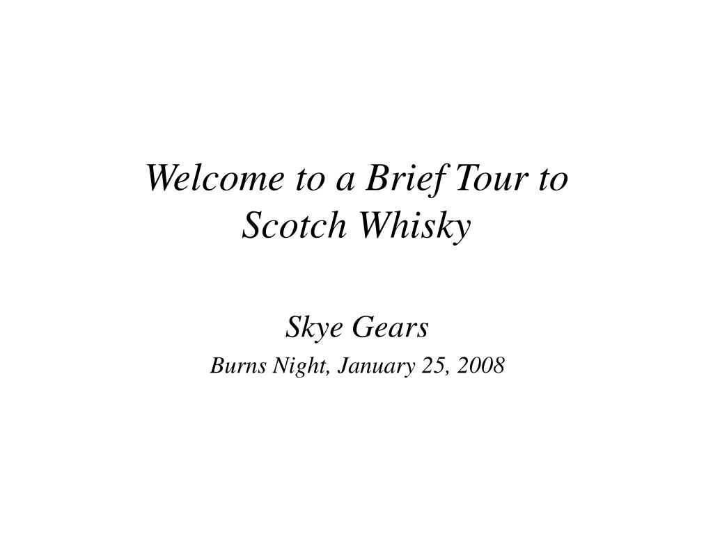 Welcome to a Brief Tour to