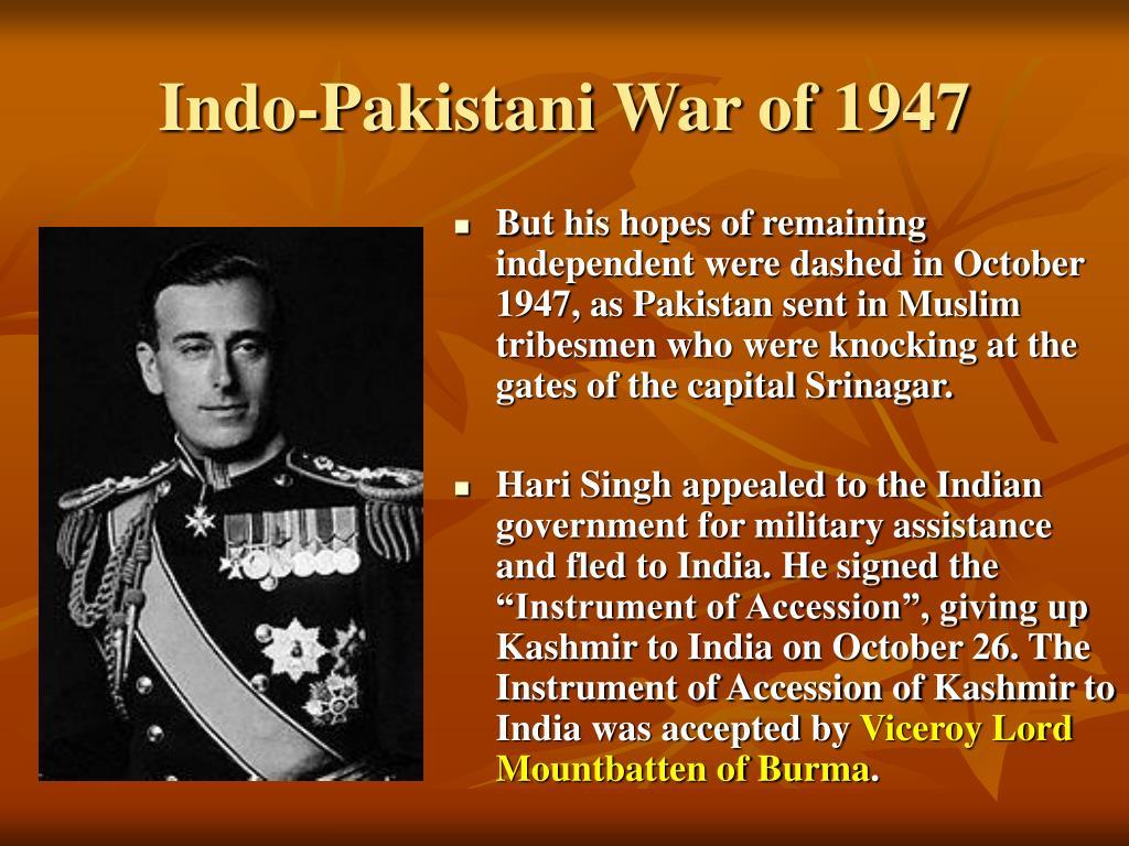 Indo-Pakistani War of 1947