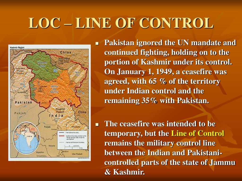 LOC – LINE OF CONTROL