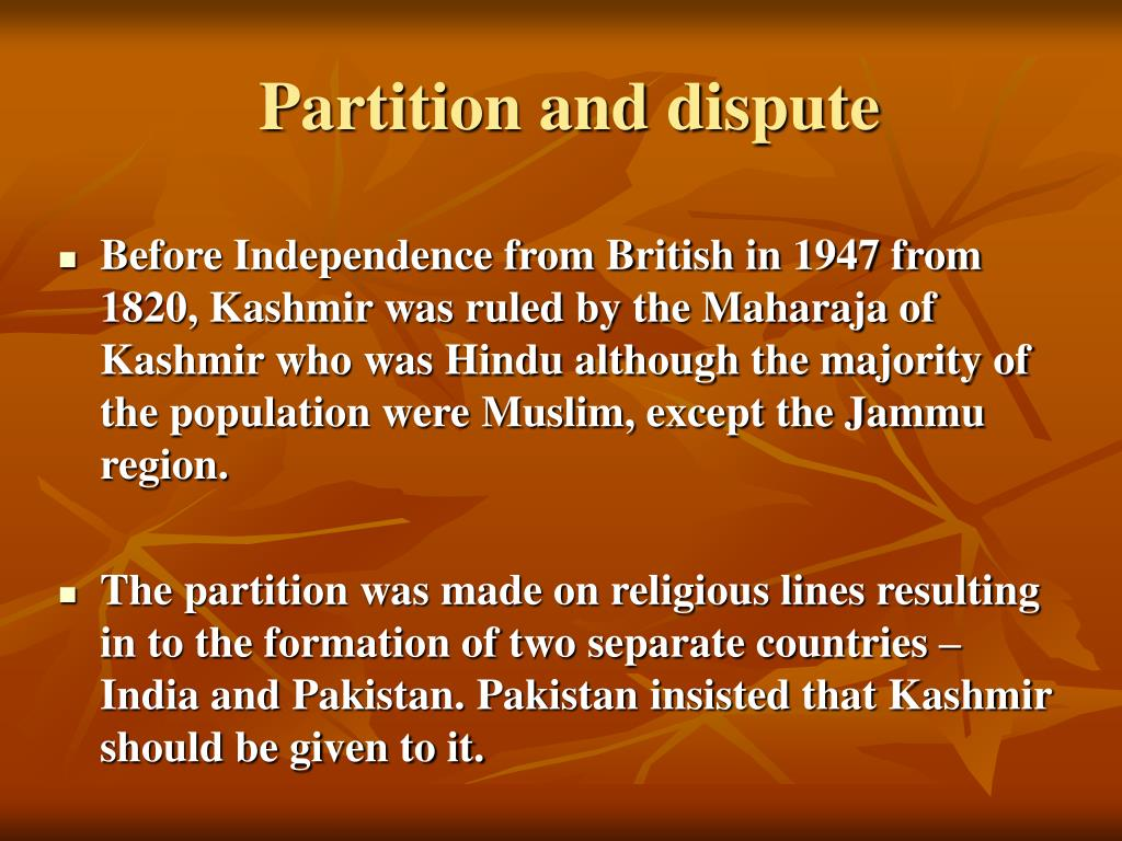 Partition and dispute