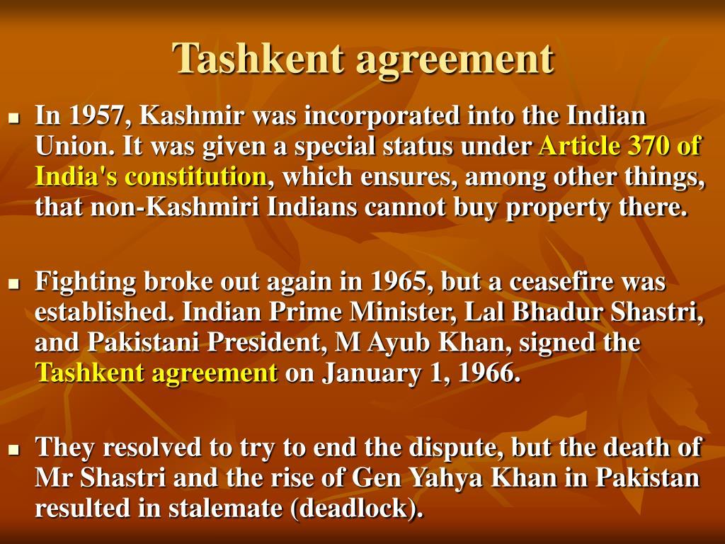 Tashkent agreement