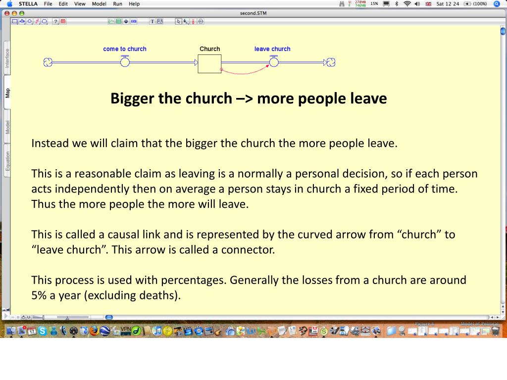 Bigger the church –> more people leave