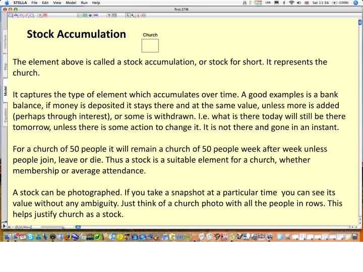 Stock Accumulation