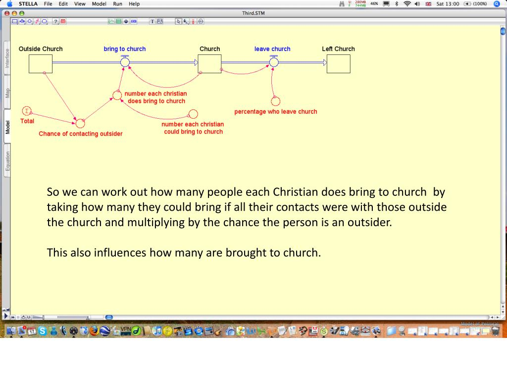 So we can work out how many people each Christian does bring to church  by taking how many they could bring if all their contacts were with those outside the church and multiplying by the chance the person is an outsider.