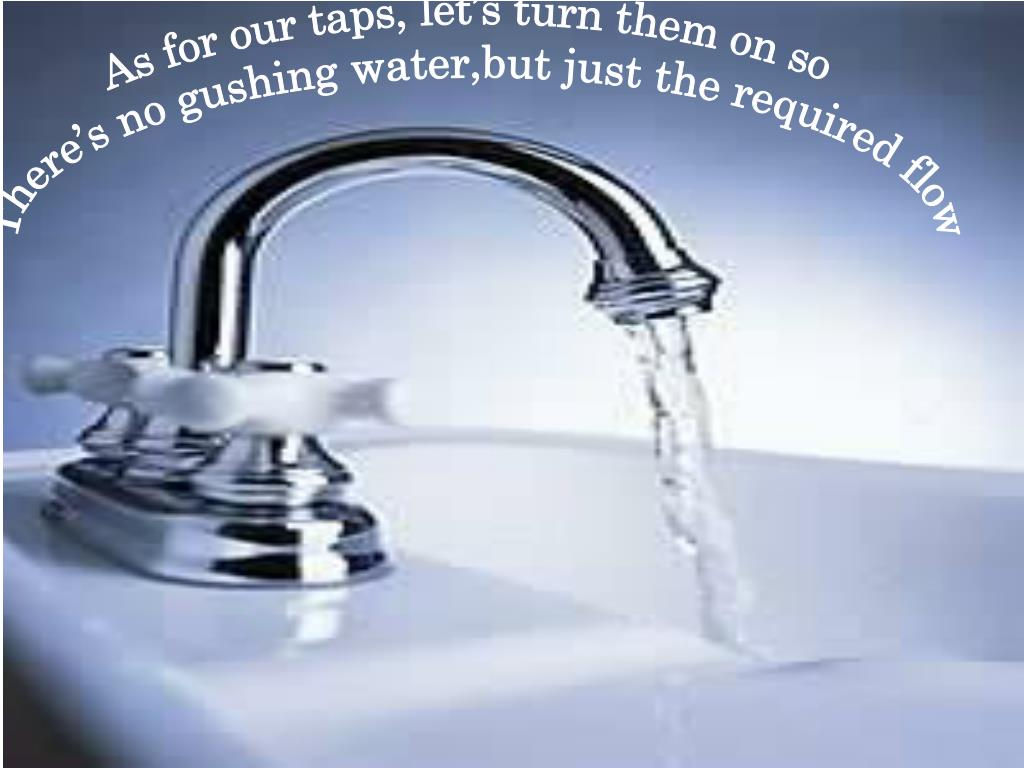 As for our taps, let's turn them on so