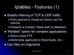 iptables features 1