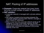 nat pooling of ip addresses