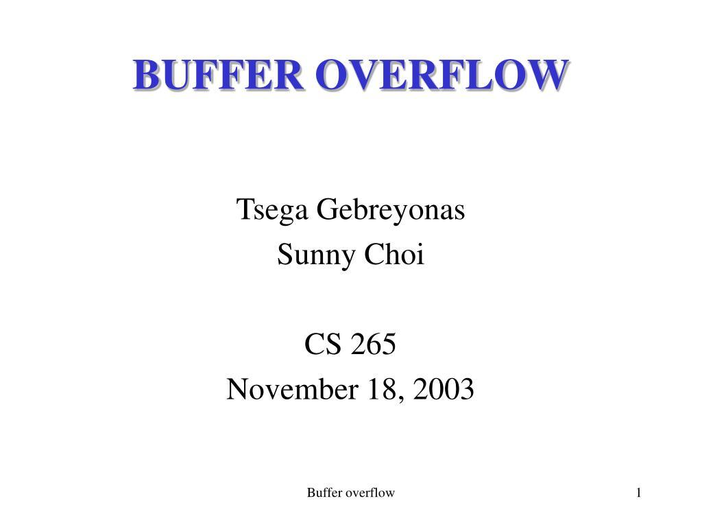buffer overflow l.