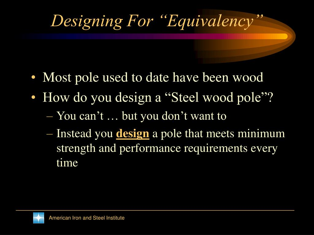 "Designing For ""Equivalency"""
