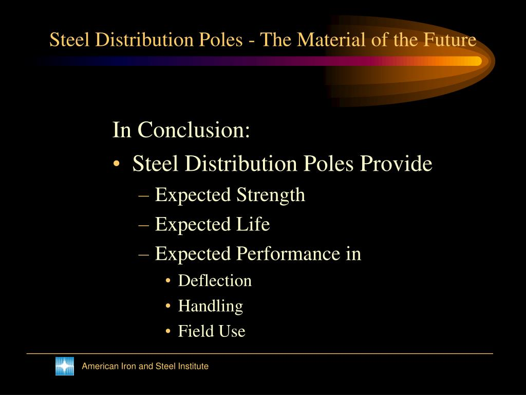 Steel Distribution Poles - The Material of the Future