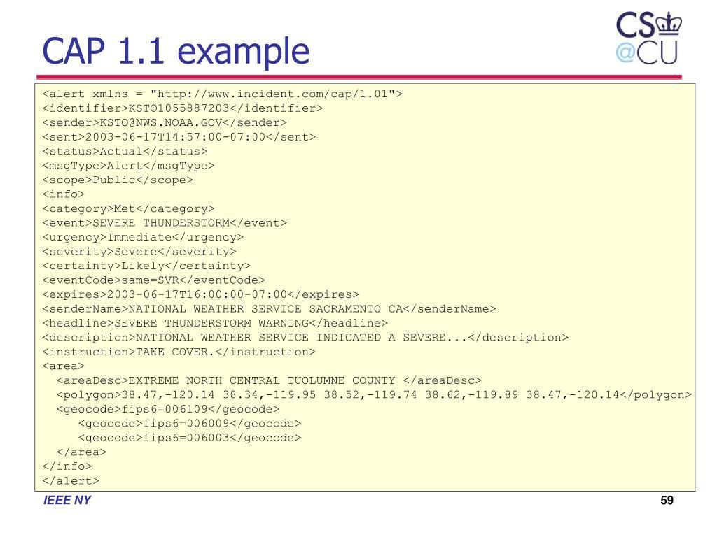 CAP 1.1 example
