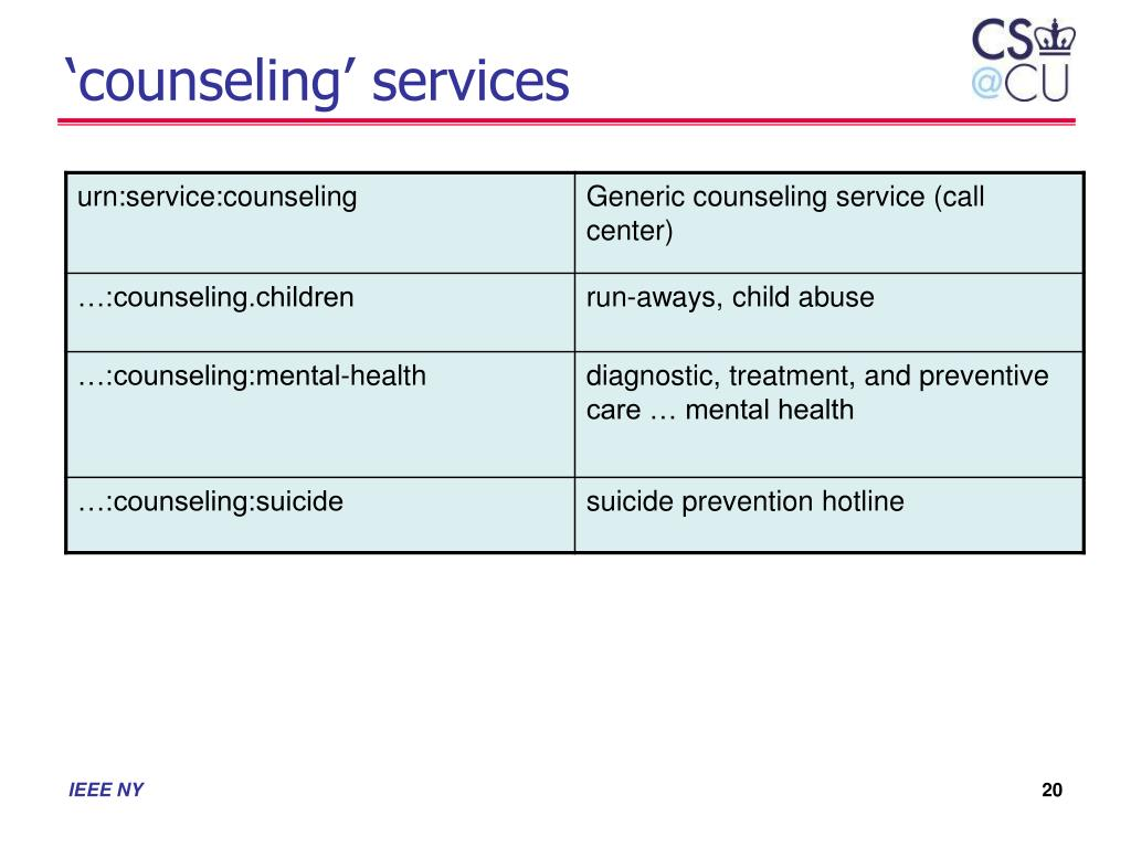 'counseling' services