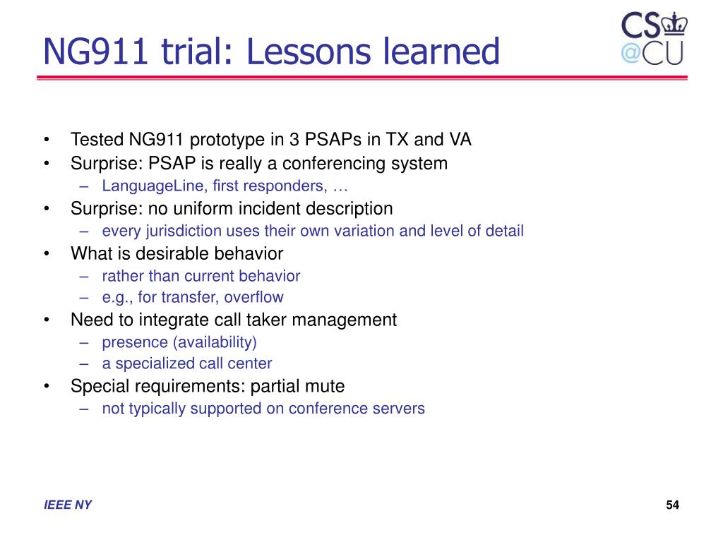 NG911 trial: Lessons learned
