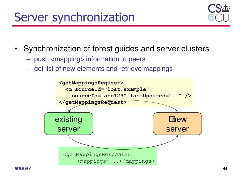 Server synchronization