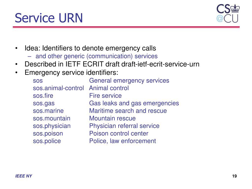 Service URN