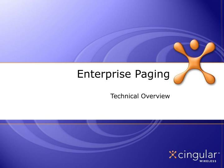 Enterprise paging