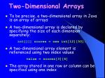 two dimensional arrays29