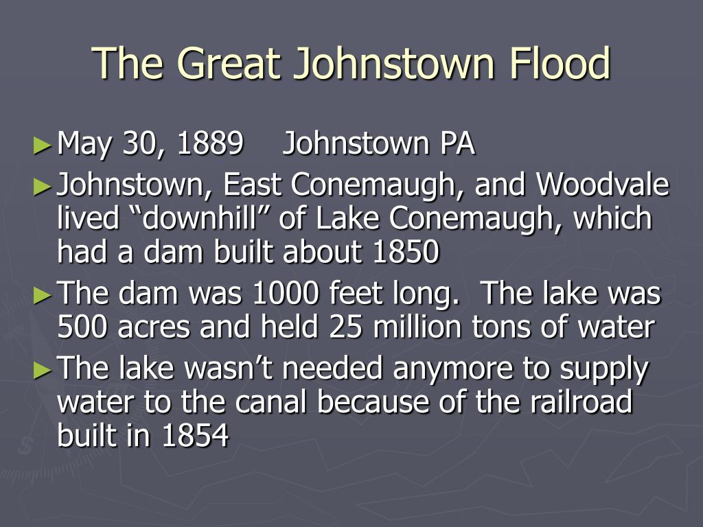 The Great Johnstown Flood