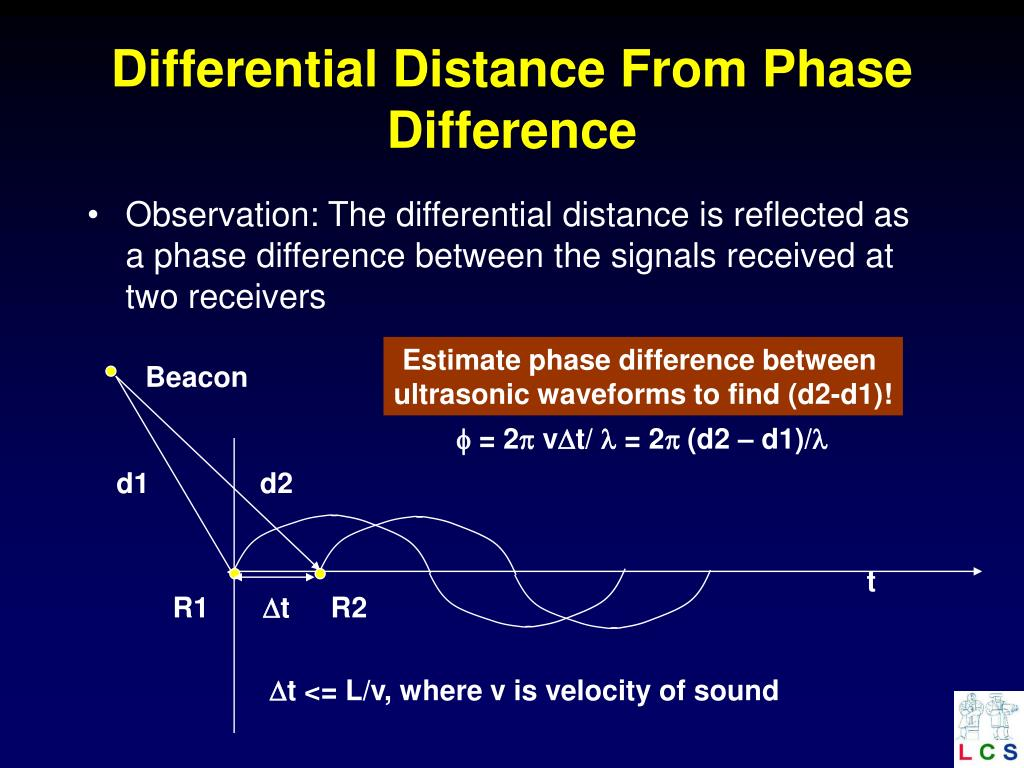 Differential Distance From Phase Difference