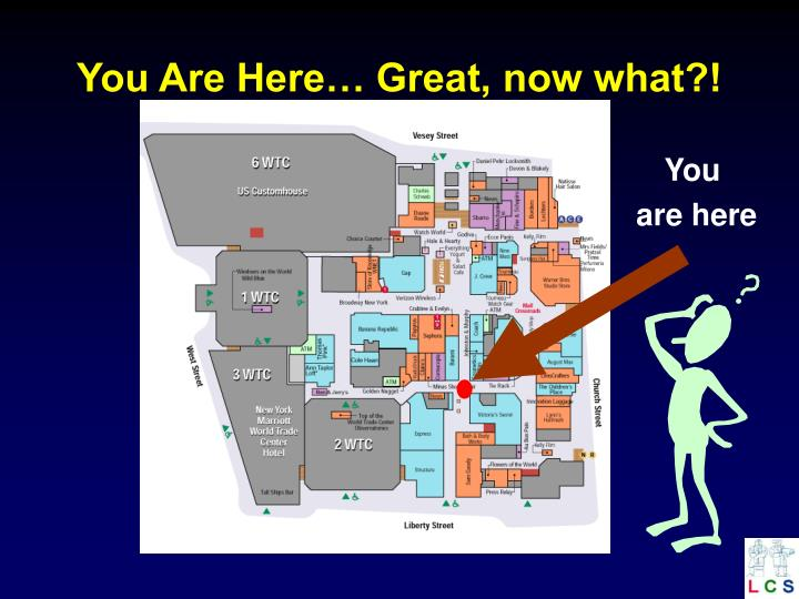 You are here great now what
