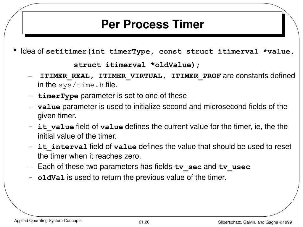 Per Process Timer