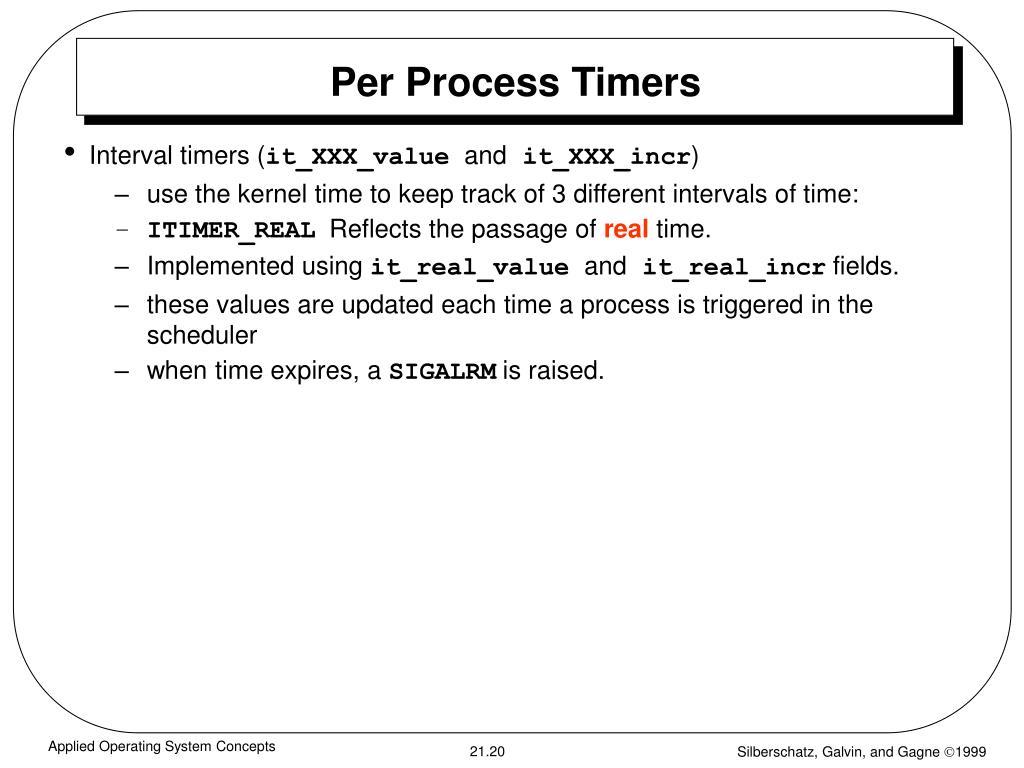 Per Process Timers