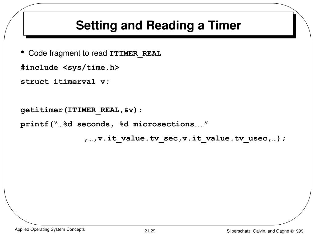 Setting and Reading a Timer