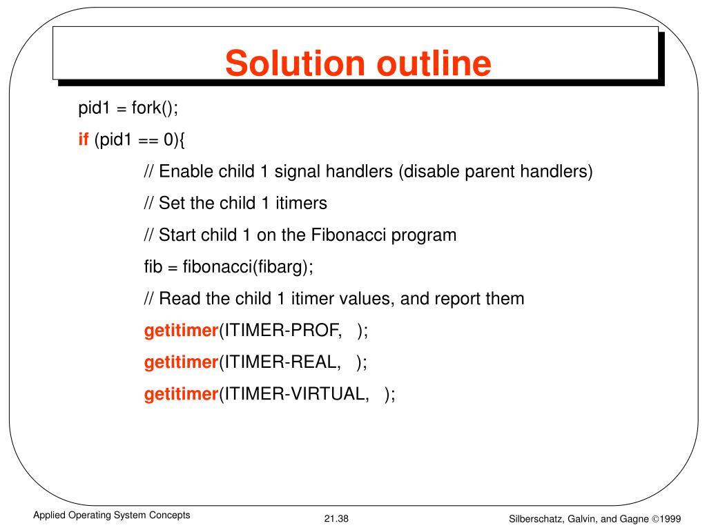 Solution outline