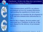 conclusion is there any hope for e government services in developing countries