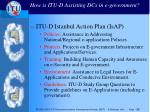 how is itu d assisting dcs in e government