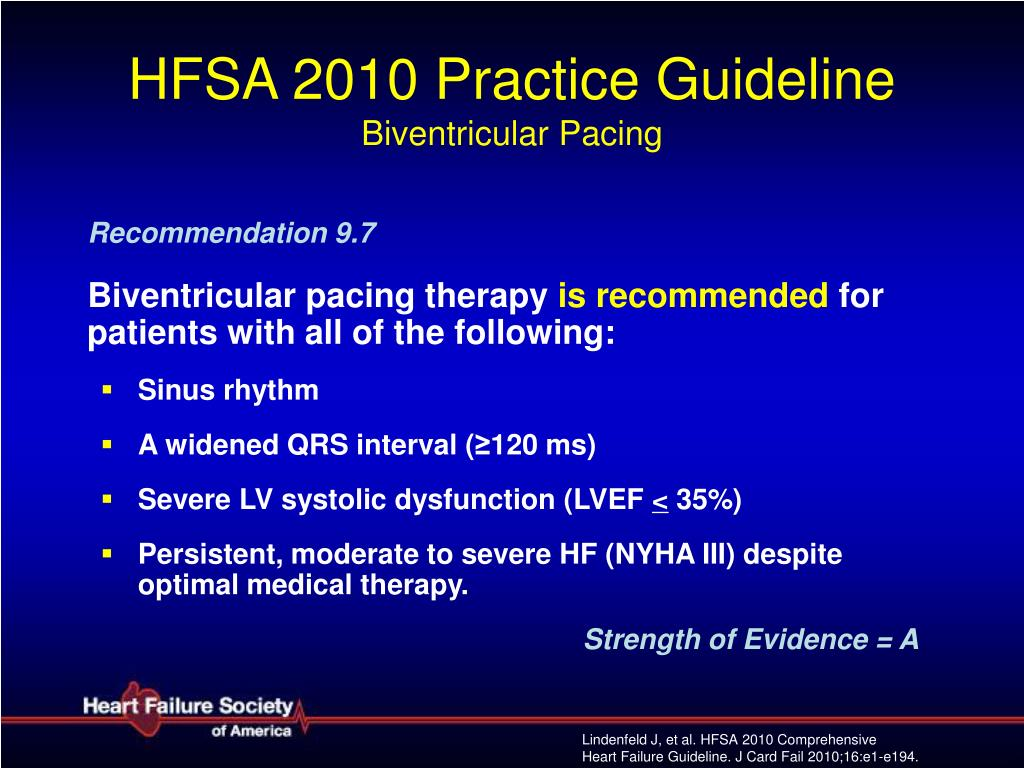 HFSA 2010 Practice Guideline