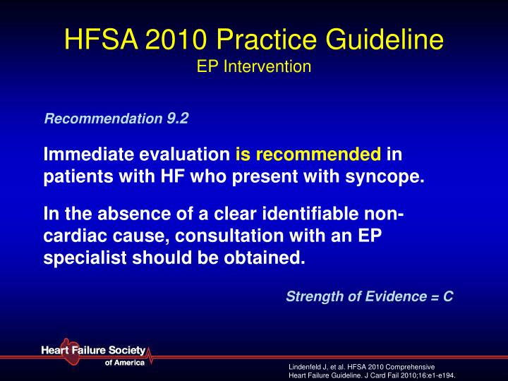 Hfsa 2010 practice guideline ep intervention3