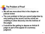 the problem of proof