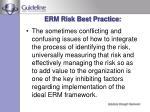 erm risk best practice