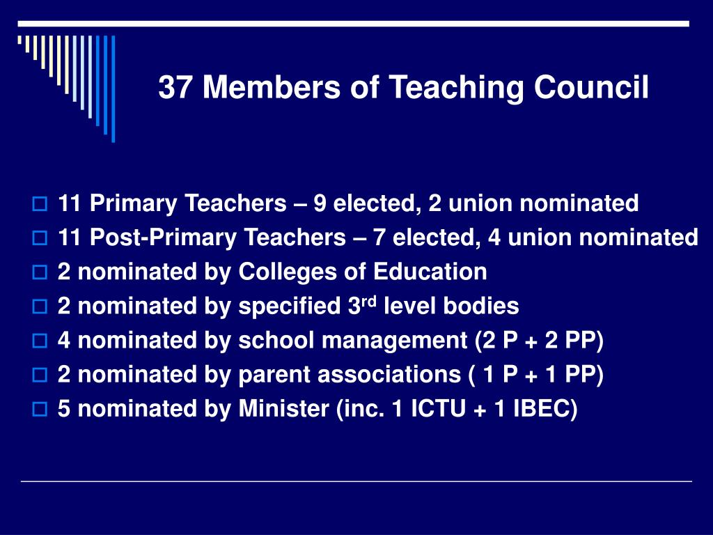 37 Members of Teaching Council