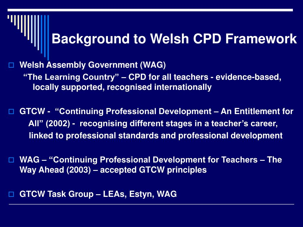 Background to Welsh CPD Framework