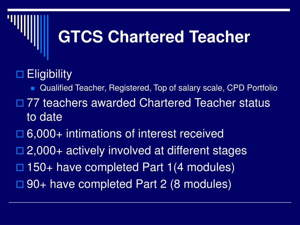 GTCS Chartered Teacher