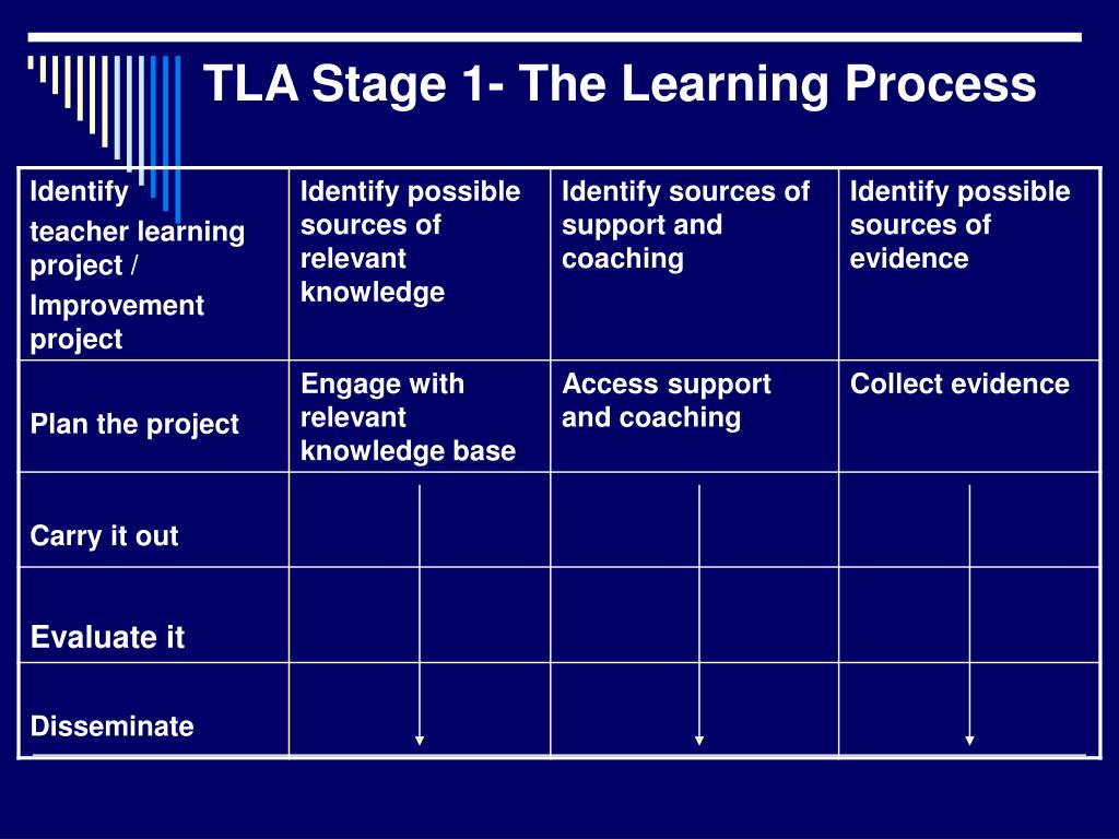 TLA Stage 1- The Learning Process