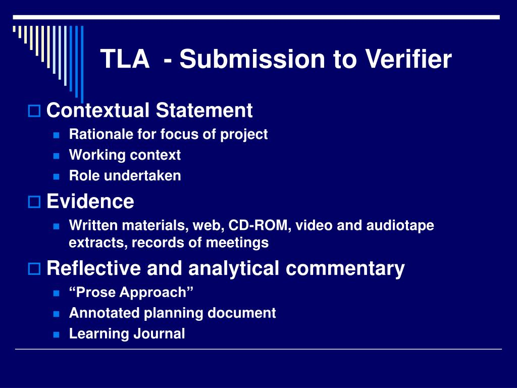 TLA  - Submission to Verifier