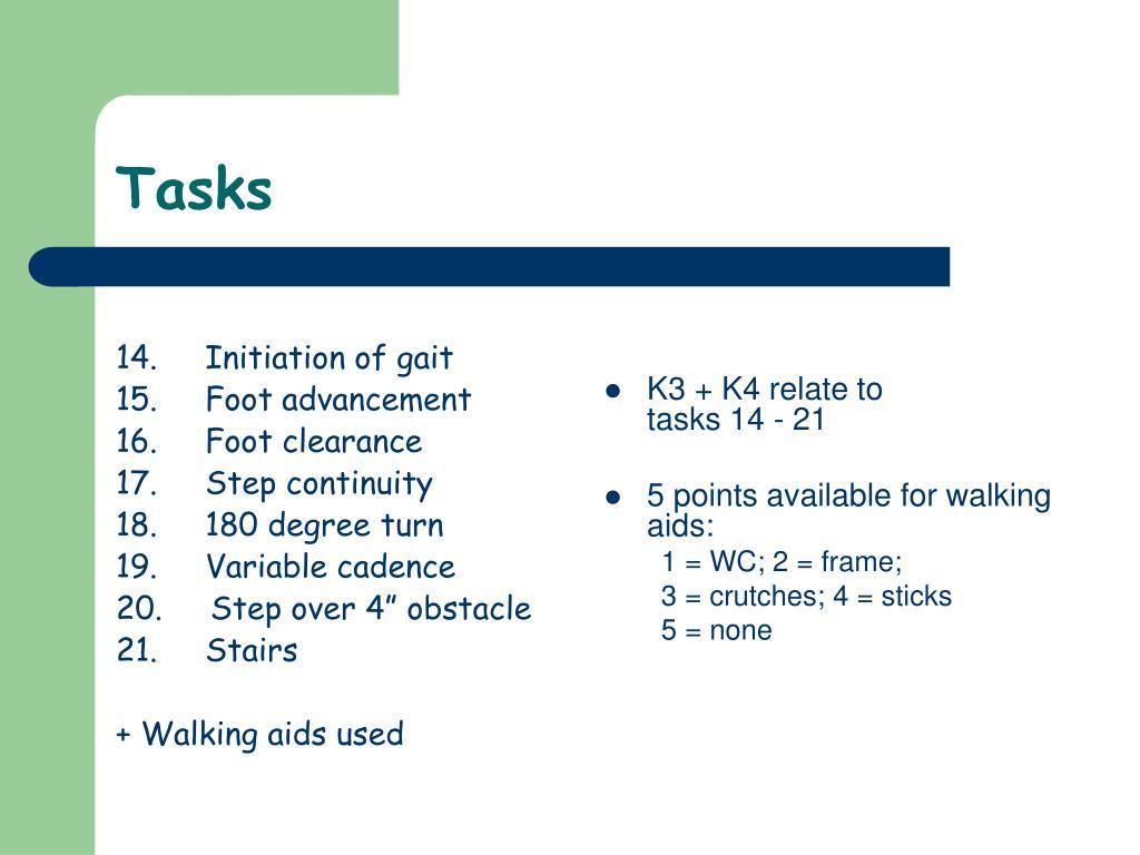 14.     Initiation of gait