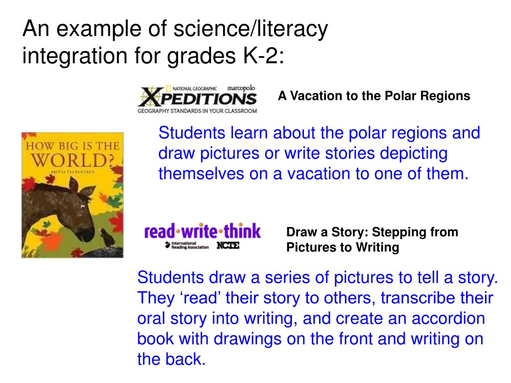 An example of science/literacy integration for grades K-2: