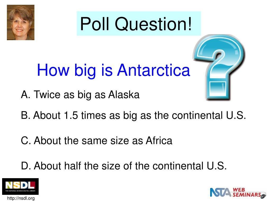 How big is Antarctica